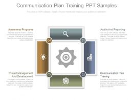 Communication Plan Training Ppt Samples