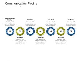 Communication Pricing Ppt Powerpoint Presentation Icon Files Cpb