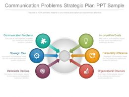Communication Problems Strategic Plan Ppt Sample
