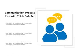 Communication Process Icon With Think Bubble