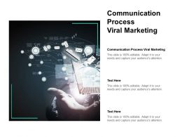 Communication Process Viral Marketing Ppt Powerpoint Presentation Rules Cpb