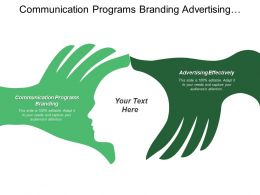 Communication Programs Branding Advertising Effectively Product Service Company