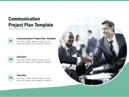 Communication Project Plan Template Ppt Powerpoint Presentation Cpb