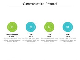 Communication Protocol Ppt Powerpoint Presentation Infographic Template Cpb