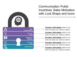 Communication Public Incentives Sales Motivation With Lock Shape And Icons