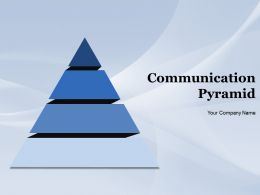 Communication Pyramid Powerpoint Presentation Slides