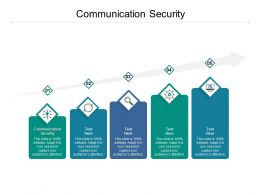 Communication Security Ppt Powerpoint Presentation Icon Images Cpb
