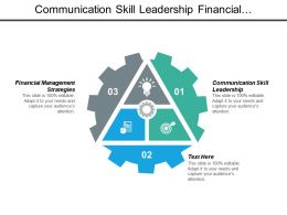 Communication Skill Leadership Financial Management Strategies Negotiating Influencing Skills Cpb