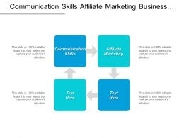Communication Skills Affiliate Marketing Business Funding Vendor Management Cpb