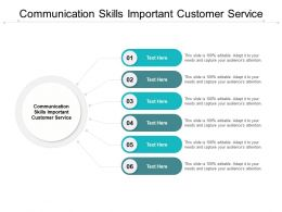 Communication Skills Important Customer Service Ppt Powerpoint Show Cpb