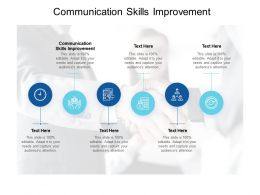 Communication Skills Improvement Ppt Powerpoint Presentation File Cpb
