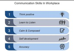 Communication Skills In Workplace Powerpoint Shapes