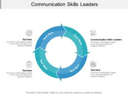 Communication Skills Leaders Ppt Powerpoint Presentation Model Deck Cpb