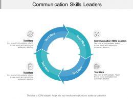 Communication Skills Leaders Ppt Powerpoint Presentation Model Deck Cpb