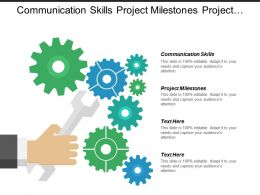 Communication Skills Project Milestones Project Management Project Management Cpb