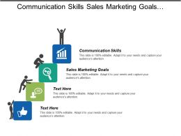 Communication Skills Sales Marketing Goals Budgeting Methods Project Status