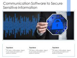 Communication Software To Secure Sensitive Information