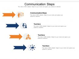 Communication Steps Ppt Powerpoint Presentation Styles Graphics Download Cpb