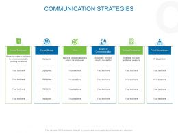 Communication Strategies Communication Ppt Powerpoint Example
