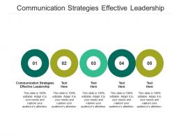 Communication Strategies Effective Leadership Ppt Powerpoint Presentation Portfolio Portrait Cpb
