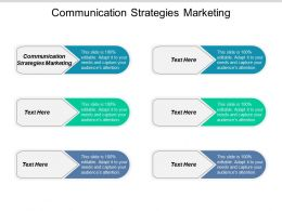 Communication Strategies Marketing Ppt Powerpoint Presentation Summary Objects Cpb