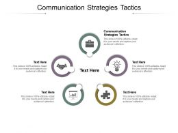 Communication Strategies Tactics Ppt Powerpoint Presentation Outline Good Cpb