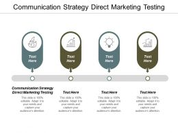 Communication Strategy Direct Marketing Testing Ppt Powerpoint Presentation Model Visual Aids Cpb