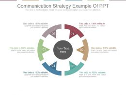 Communication Strategy Example Of Ppt
