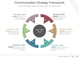 Communication Strategy Framework Powerpoint Images