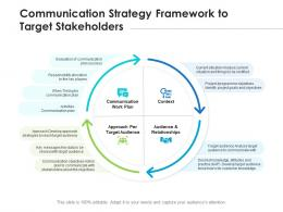 Communication Strategy Framework To Target Stakeholders