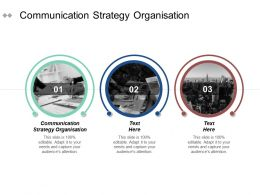 Communication Strategy Organisation Ppt Powerpoint Presentation File Diagrams Cpb