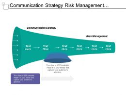 Communication Strategy Risk Management Technology Platform Business Services Level Requirement