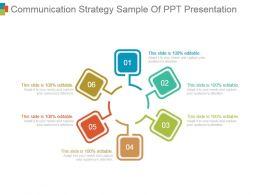 Communication Strategy Sample Of Ppt Presentation