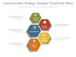 Communication Strategy Template Powerpoint Slides