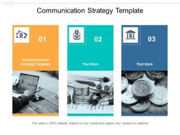 Communication Strategy Template Ppt Powerpoint Presentation Styles Graphics Tutorials Cpb