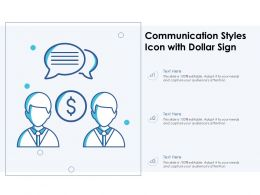 Communication Styles Icon With Dollar Sign