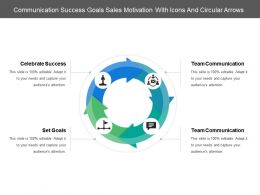 Communication Success Goals Sales Motivation With Icons And Circular Arrows