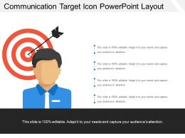 Communication Target Icon Powerpoint Layout