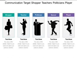 Communication Target Shopper Teachers Politicians Player