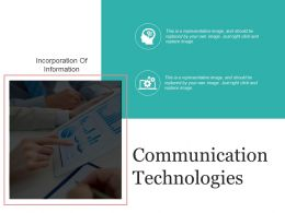 Communication Technologies Presentation Layouts