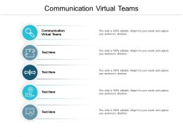 Communication Virtual Teams Ppt Powerpoint Presentation Portfolio Diagrams Cpb