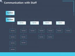Communication With Staff N239 Ppt Powerpoint Presentation Display