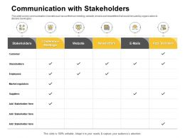 Communication With Stakeholders Conference Meetings Ppt Powerpoint Presentation Portfolio