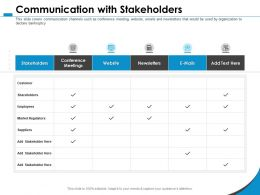Communication With Stakeholders Newsletters M1069 Ppt Powerpoint Presentation File Format