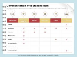 Communication With Stakeholders Website Ppt Gallery Inspiration