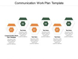 Communication Work Plan Template Ppt Powerpoint Infographic Template Layouts Cpb