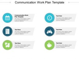 Communication Work Plan Template Ppt Powerpoint Presentation Pictures Brochure Cpb