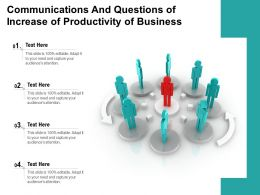 Communications And Questions Of Increase Of Productivity Of Business