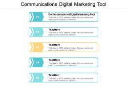 Communications Digital Marketing Tool Ppt Powerpoint Presentation Inspiration Example Topics Cpb