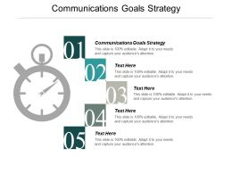 Communications Goals Strategy Ppt Powerpoint Presentation Summary Mockup Cpb